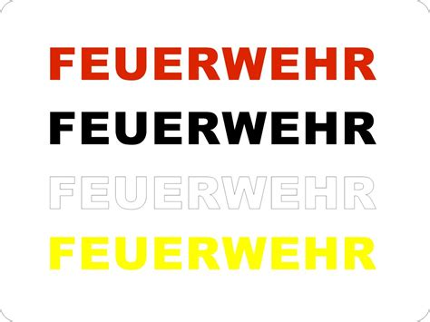 Feuerwehr Aufkleber by Aufkleber Feuerwehr Autoaufkleber Feuerwehraufkleber