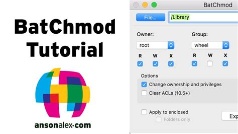 wordpress tutorial mac os x batchmod tutorial change unix permissions on mac os x