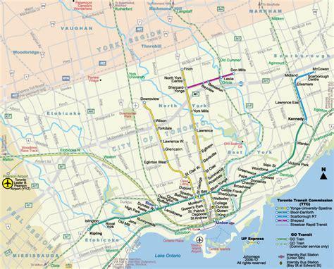 canadian map toronto carte de metro toronto subway application