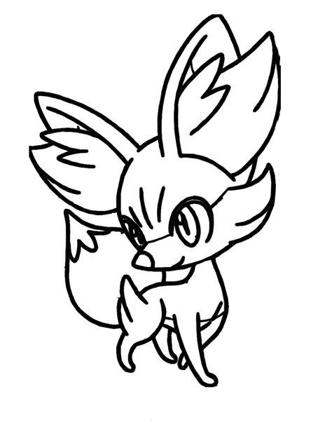 pokemon coloring pages chespin desenho de fennekin para colorir tudodesenhos