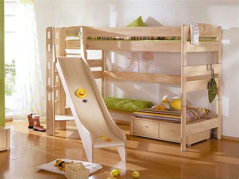 Simple Bunk Beds Bedroom Cool Small Beds Simple Wooden Bunk Bed For White And Orange Drawers