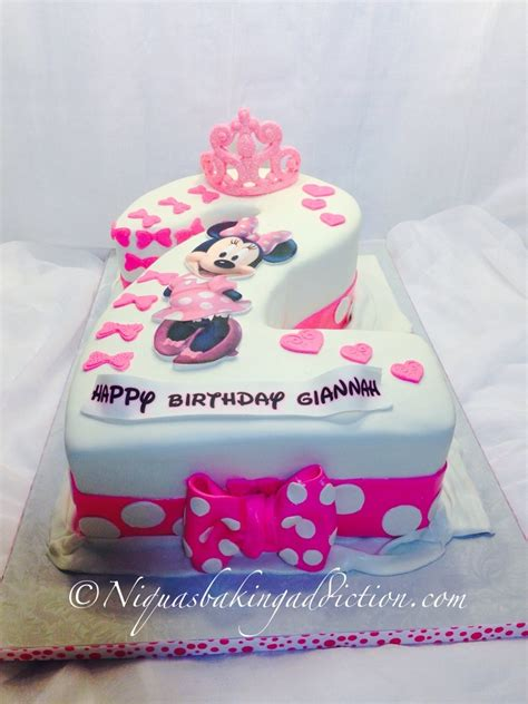 minnie mouse number  cake cakecentralcom