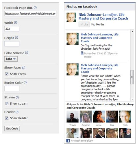 facebook fan page plugin display facebook fan page wall in a website siteninja cms