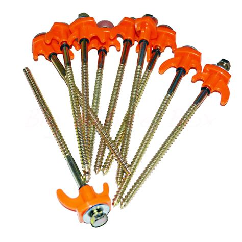 rock pegs for awnings 10 x high vis screw in rock pegs big white box