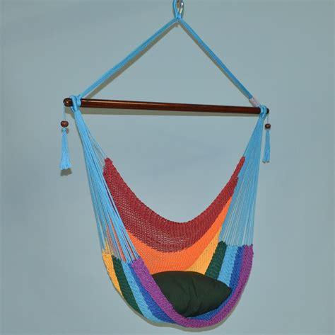 hammock chair rainbow caribbean jumbo rope hanging hammock chair w