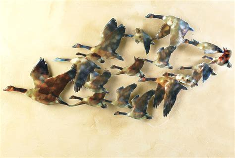 how to hang metal wall decor geese metal wall sculpture geese metal wall