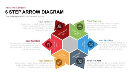 6 Step Arrow Diagram Powerpoint And Keynote Template Slidebazaar Powerpoint Diagram Templates