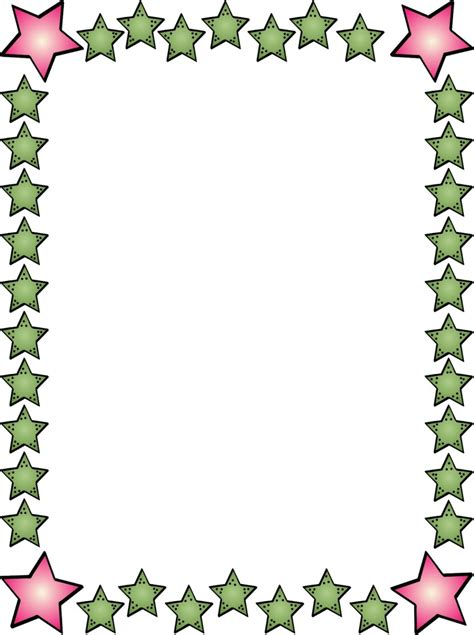 star borders for microsoft word