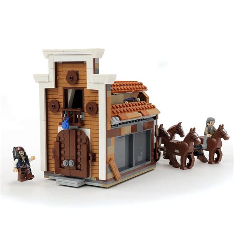 the bank of custom lego of the caribbean bank heist
