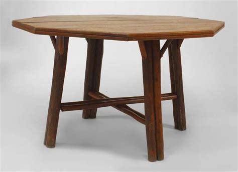 american rustic oak dining table by hickory co at 1stdibs