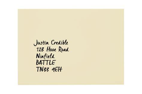 Uk Address All Colour Envelopes