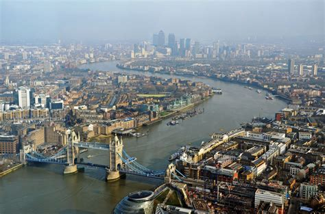 the themes london the thames from the shard looking down river from the