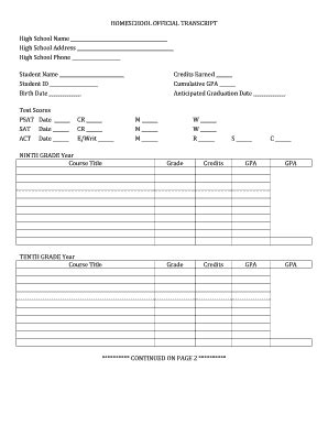high school transcript template homeschool transcript template theparentsunion org