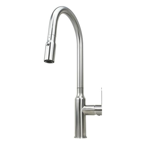 kitchen faucet nozzle ariel flute stainless steel lead free single handle pull