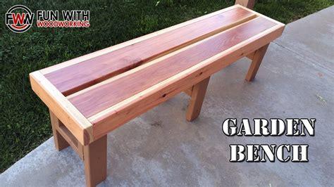 bench project project how to build a quick and easy garden bench out of redwood 2x6 s and 2x4 s