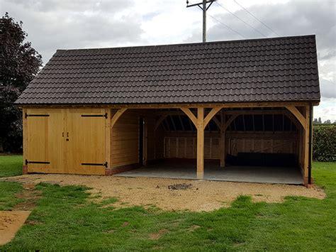 oak framed garages  shires oak buildings