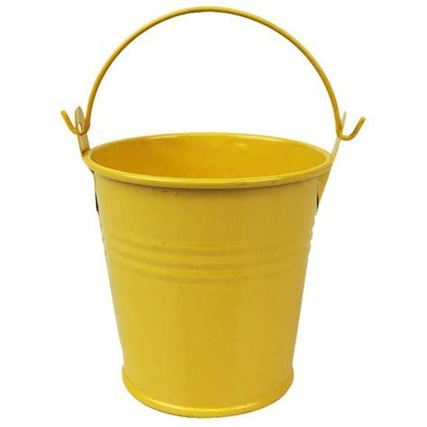 Yellow Pail Tin metal favor pail 3in yellow