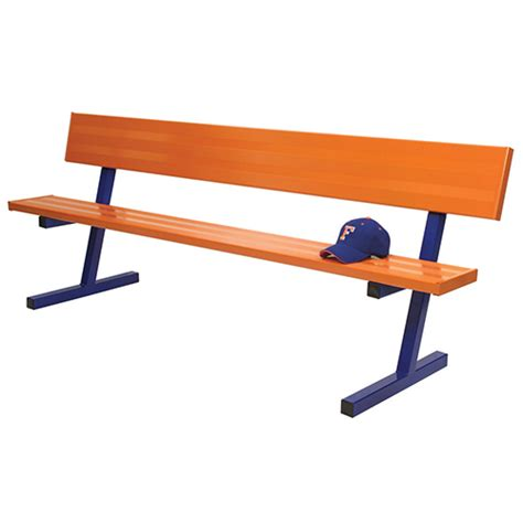 bench player 7 189 player bench w seat back surface mount powder coated