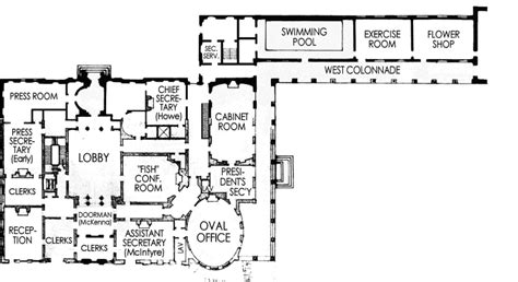 west wing floor plan west wing white house museum