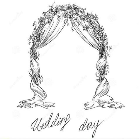 Hochzeit Zeichnung by Line Botwin Quot Wedding Illustrations Quot Wedding Bridal Arch