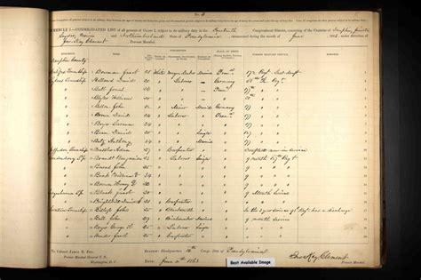 War Search Civil War 187 Civil War Draft Registration Records 1863 1865