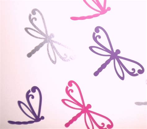 Vinyl Wall Stickers Decals set of 12 mixed dragonfly wall stickers removable ebay