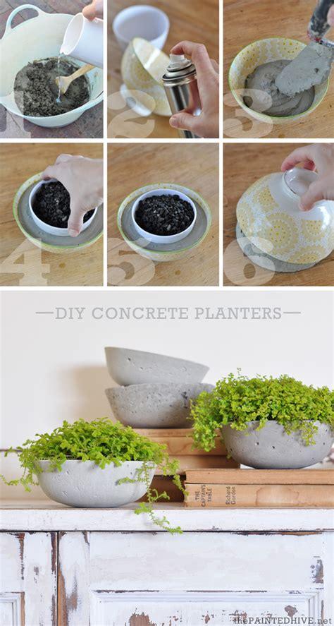 make your own vessel diy concrete vessel planters the painted hive