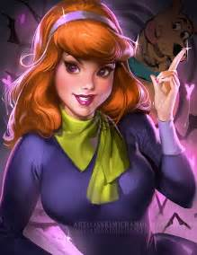 scooby doo s velma and daphne look enigmatic in this racy fan art