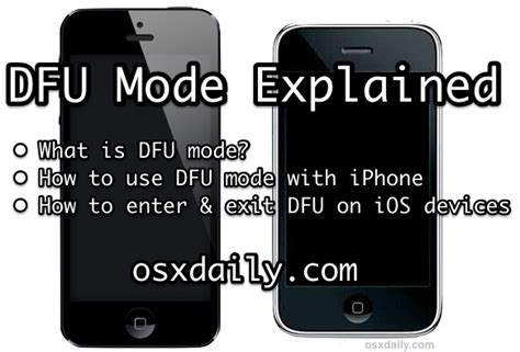 iphone dfu mode explained how to use enter dfu mode on iphone