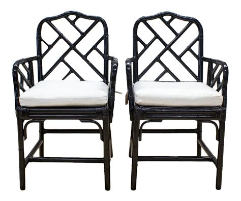 bamboo chair black label black lacquer bamboo chinoiserie chairs a pair chairish