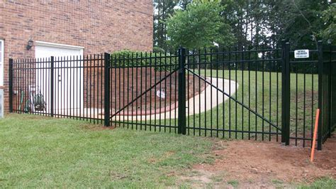 backyard metal fence residential metal fences ga fence company natural enclosures