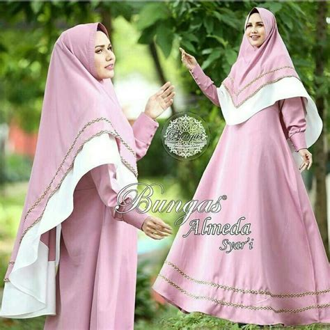 jual beli hijab almeida syari pink busana muslim pesta