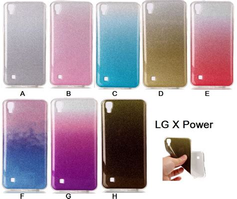 Softcase Tpu Lg X Power Casing Soft Silikon for lg x power silicone glitter phone cover for lg xpower cases lgx power soft tpu shiny