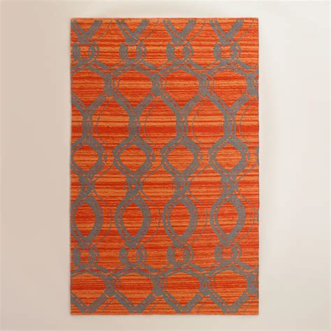 orange outdoor rug orange and gray ventura reversible indoor outdoor rug world market
