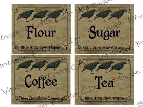 this designer cooks free printable canister labels primitive canister labels fh139 flour sugar coffee