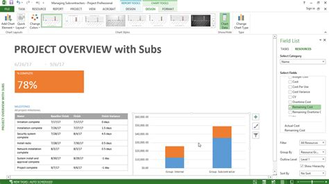 managing projects template managing subcontractor projects with microsoft project