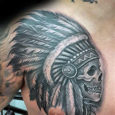 skull headdress tattoo 80 indian skull designs for cool ink ideas