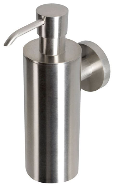 Wall Dispenser Ss wall mounted satin stainless steel soap dispenser contemporary soap lotion dispensers by