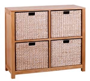 bookcase with basket storage oak storage bookcase with 4 baskets wooden shelving cube