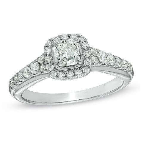 zales style 19549377 cushion cut engagement ring