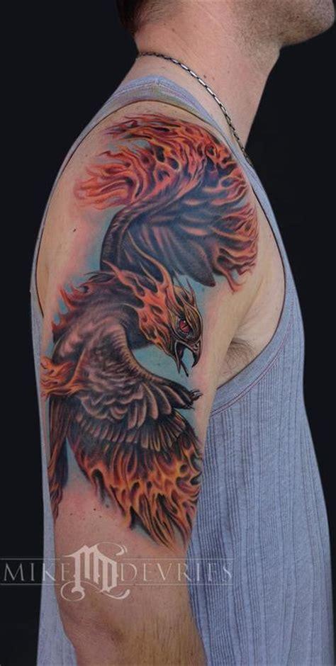 tattoo phoenix hours greensboro nc mike devries tattoos realistic phoenix tattoo