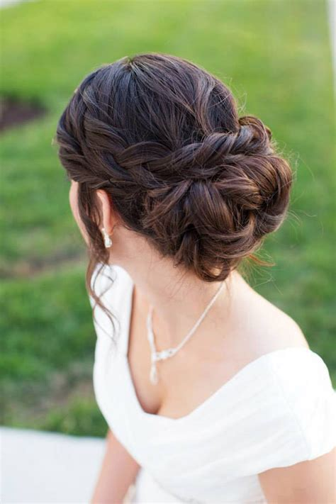 beautiful braided updos  brides mon cheri bridals