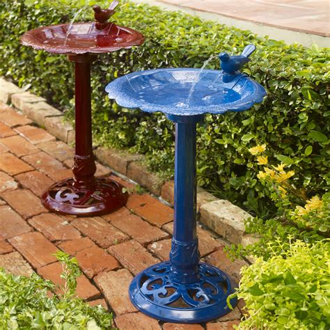 build bird bath fountain