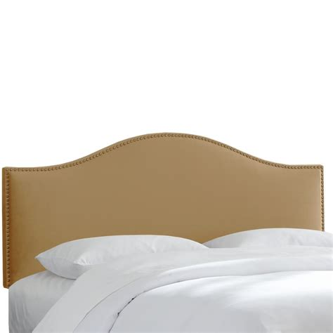 microsuede headboard skyline furniture full size upholstered headboard in tan