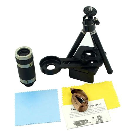 Mobile Handphone Telescope With Universal Holder 8x zoom optical lens telescope universal holder for mobile cell phone