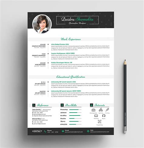 Cover Letter Template Psd free professional resume cv design template with cover