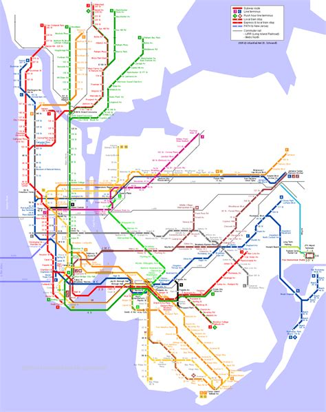 metro map nyc mapa do metro em new york