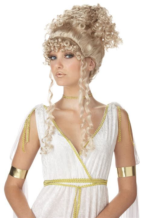johnnuman hairstyle goddess wig costume blonde goddess athena wig costume