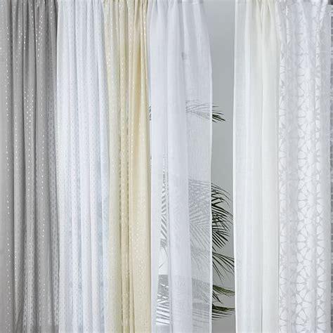 metallic sheer curtains metallic dash curtain white west elm