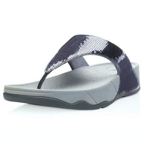 Sandal Wedges Terlaris New Fitflop Glitter fitflop electra womens glitter toepost sandals pewter womens from scorpio shoes uk